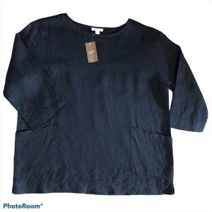 J. Jill | Pure Jill 100% Linen 3/4 Length Sleeve S